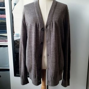 Banana Republic | Cardigan + Leather Elbow Patches